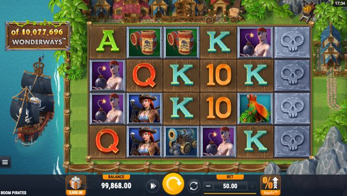 Boom Pirates Spilleautomat fra Microgaming